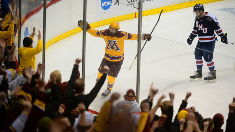 NCAA: Tom Powers - Score One For Goliath As Gophers Stomp Robert Morris