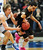 Tyus Jones of Apple Valley, right,  picks up a foul as he tries to steal the ball from Brainerd's Jack Sauer in the first half.   (Pioneer Press: Scott Takushi)