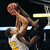 Johnson's Diantre Collins, right, gets his hand on a shot by DeLaSalle's Reid Travis in the first half.  (Pioneer Press: Scott Takushi)