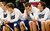The Woodbury bench late in the second half of their 70-59 loss to Eden Prairie. (Pioneer Press: Scott Takushi)