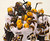 Minnesota players celebrate Kyle Rau's winning goal over Bemidji State in a WCHA playoff college hockey game in Minneapolis, Friday, March 15, 2013. Minnesota won 2-1 in overtime. (AP Photo/Janet Hostetter)