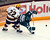 Minnesota's Travis Boyd collides with Bemidji State's Jordan George in the fourth period of a WCHA playoff college hockey game in Minneapolis, Friday, March 15, 2013. Minnesota won 2-1 in overtime.(AP Photo/Janet Hostetter)