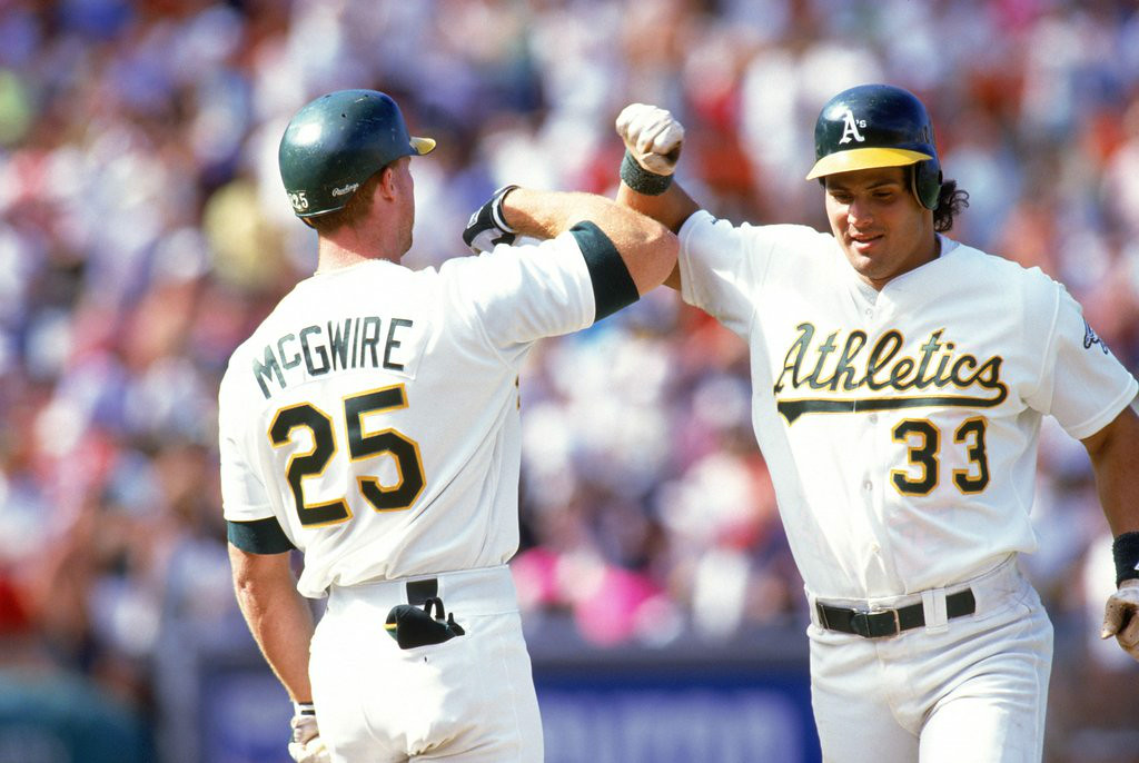". <p><b> Onetime home run king Mark McGwire, overcome by bitterness, says he never again wants to speak to � </b> </p><p> A. Jose Canseco </p><p> B. Sammy Sosa </p><p> C. The 89 percent of writers voting against his hall of fame candidacy </p><p><b><a href=""http://ftw.usatoday.com/2014/07/mark-mcgwire-jose-canseco-apology-oakland-athletics-mlb\"" target=\""_blank\"">LINK</a></b> </p><p>    (Otto Greule Jr/Getty Images)</p>"