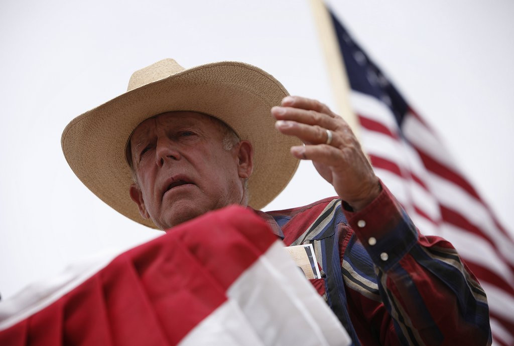 ". <p><b> Nevada rancher Cliven Bundy sparked outrage last week when he suggested that these people would be better off living as slaves � </b> <p> A. African Americans <p> B. Mexican Americans <p> C. The Tea Party folks camped out on his land <p><b><a href=\'http://www.twincities.com/news/ci_25629426/nevada-rancher-bundy-condemned-racist-remarks\' target=""_blank\""> LINK </a></b> <p>    (AP Photo/Las Vegas Review-Journal, John Locher)"
