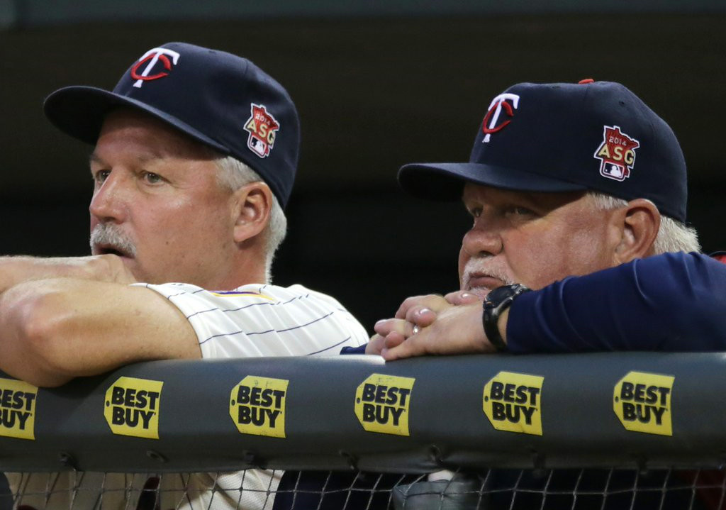 """. <p><b> History was made at Target Field on Sunday when Twins manager Ron Gardenhire did this for the 1,000th time � </b> </p><p> A. Lost a game </p><p> B. Won a game </p><p> C. Scratched Joe Mauer�s name out of the lineup </p><p><b><a href=\""""http://www.twincities.com/twins/ci_26184963/rays-sweep-minnesota-twins-its-gardenhires-1-000th\"""" target=\""""_blank\"""">LINK</a></b> </p><p>    (AP Photo/Jim Mone)</p>"""