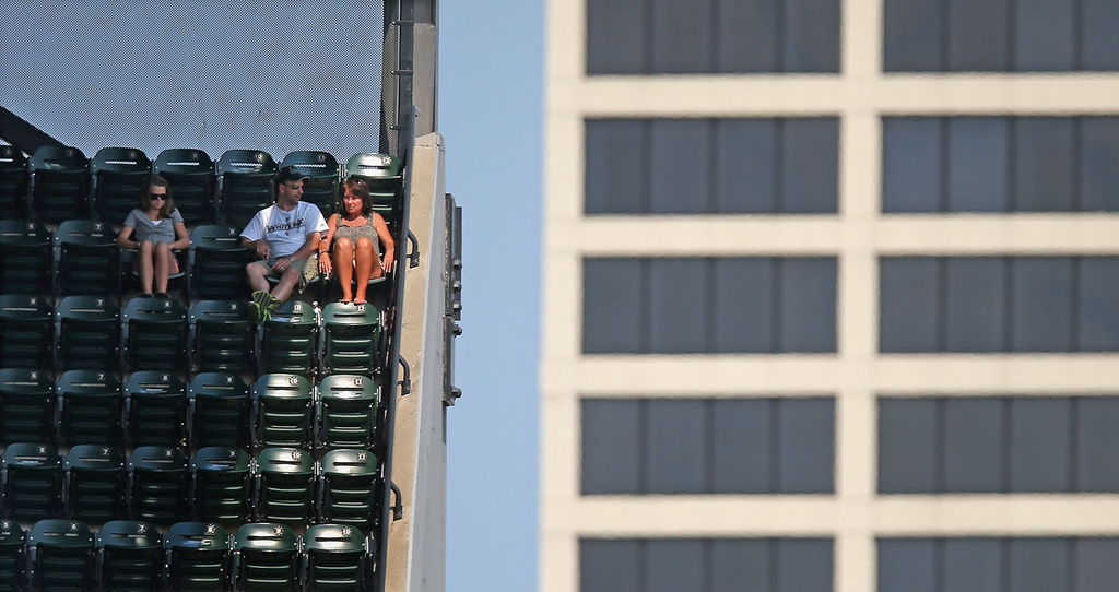 . Diehard ChiSox fans watch as the White Sox go down to the Twins, 5-2, from the top of the upper deck at U.S. Cellular Field. (Photo by Jonathan Daniel/Getty Images)