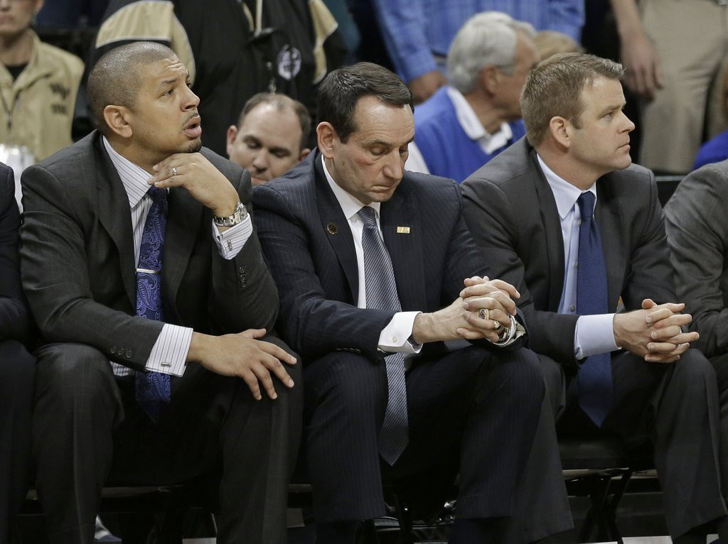 """. <p>7. (tie) MIKE KRZYZEWSKI <p>You�d feel light-headed, too, if you lost to freaking Wake Forest. (unranked) <p><b><a href=\'http://www.twincities.com/sports/ci_25287458/mike-krzyzewski-duke-coach-out-hospital-after-dizzy\' target=\""""_blank\""""> HUH?</a></b> <p>    (AP Photo/Chuck Burton)"""