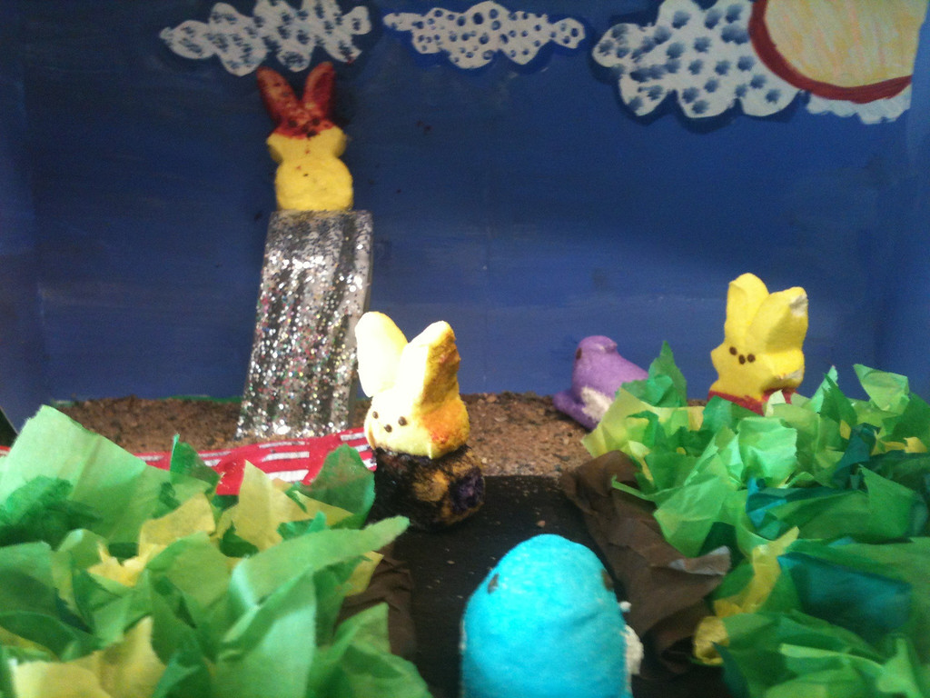 """. \""""Hanging with Our Peeps,\"""" by Molly and Lily Timmerman, Minneapolis"""