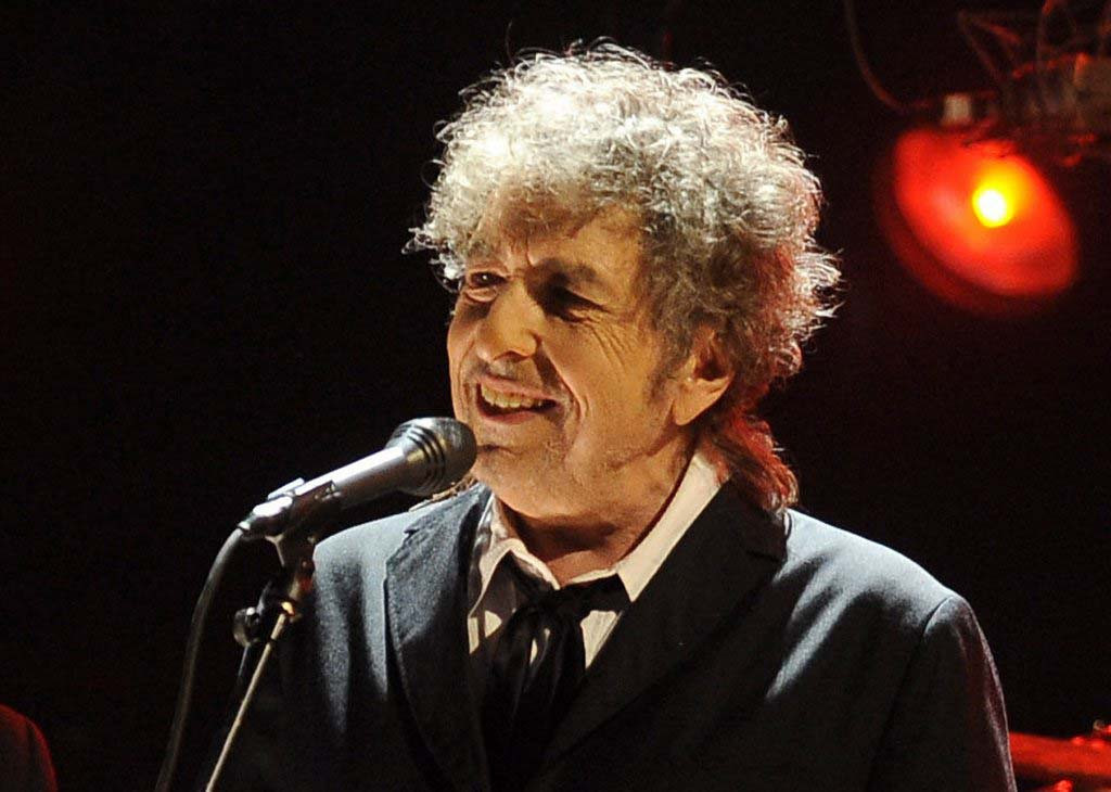 . Jan. 12, 2012: Bob Dylan performs in Los Angeles. (Associated Press: Chris Pizzello)