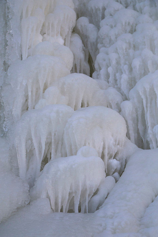. Frozen dips of water have helped create mushroom-like ice formations seen along the Apostle Islands National Lakeshore. (Pioneer Press: Andy Rathbun)