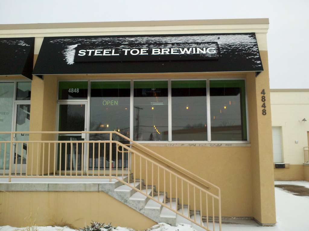 . Steel Toe Brewing in St. Louis Park has modern wall colors and light fixtures but nevertheless has a small-town dive-bar vibe -- which is a good thing. (Courtesy of Steel Toe Brewing)