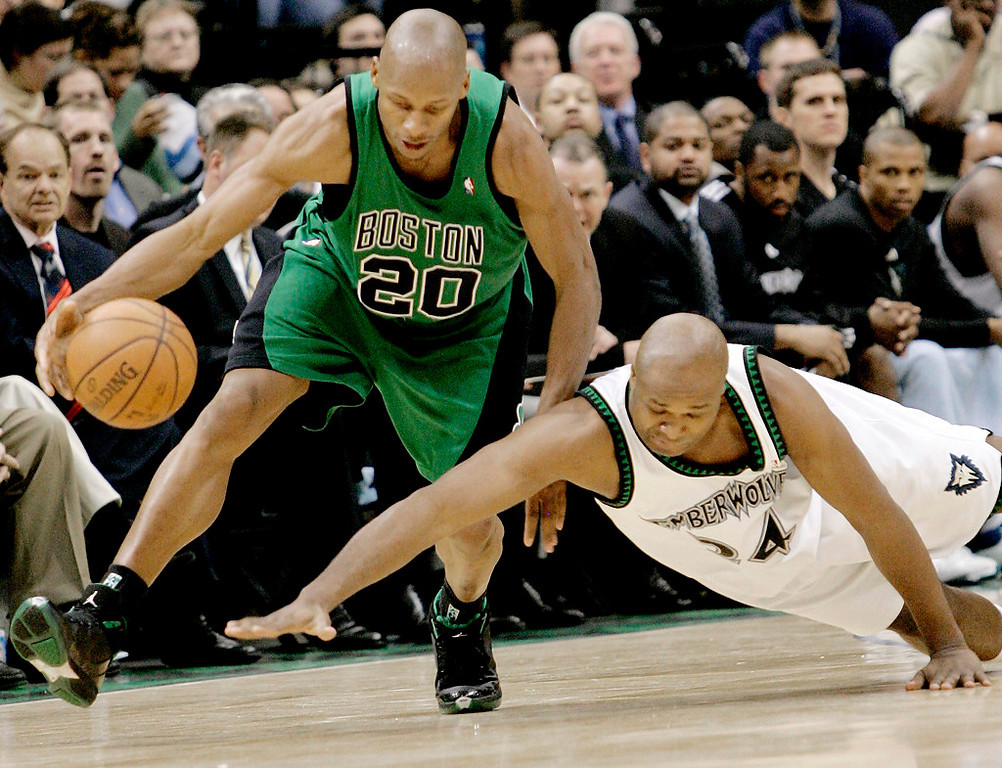 . 7. 1996: No. 5 Ray Allen (traded as part of a conditional predraft deal to Milwaukee Bucks for No. 4 Stephon Marbury and future first-round pick, which the Wolves late got back and became Rasho Nesterovic in 1998).  This was supposed to be the trade that would make the Wolves championship contenders for a decade. Garnett and Marbury could have been the next Karl Malone and John Stockton. But they weren�t BFFs. Garnett got the big contract. Marbury wanted the spotlight. He was traded to New Jersey in 1999. The Wolves probably would have been better off with Allen, who became an all-star and the NBA�s all-time leading three-point shooter. But Marbury still averaged 16.9 points and 8.3 assists in Minnesota while helping the team to two playoff appearances. (AP Photo/Jim Mone)
