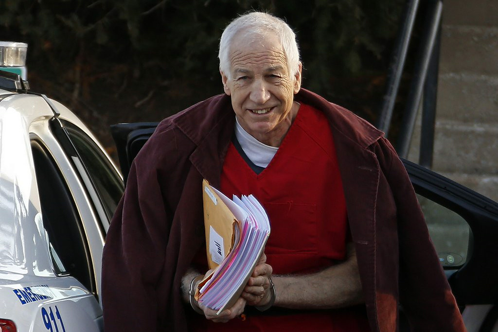 . 10. JERRY SANDUSKY <p>Who knew his Penn State crimes could be fodder for such sophisticated high comedy?  </p><p>   (AP Photo/Gene J. Puskar)</p>