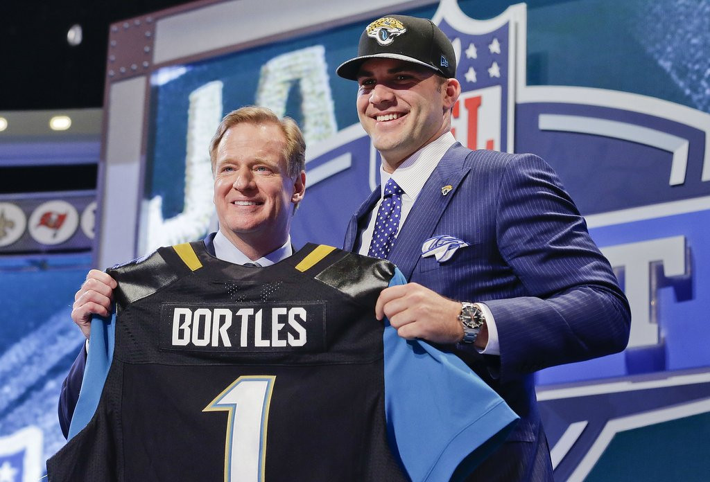 . <b>10. BLAKE BORTLES </b> <p>Jaguars must be thrilled wasting No. 3 pick on a QB they could have gotten on Friday. Or Saturday. <p>    (AP Photo/Craig Ruttle)