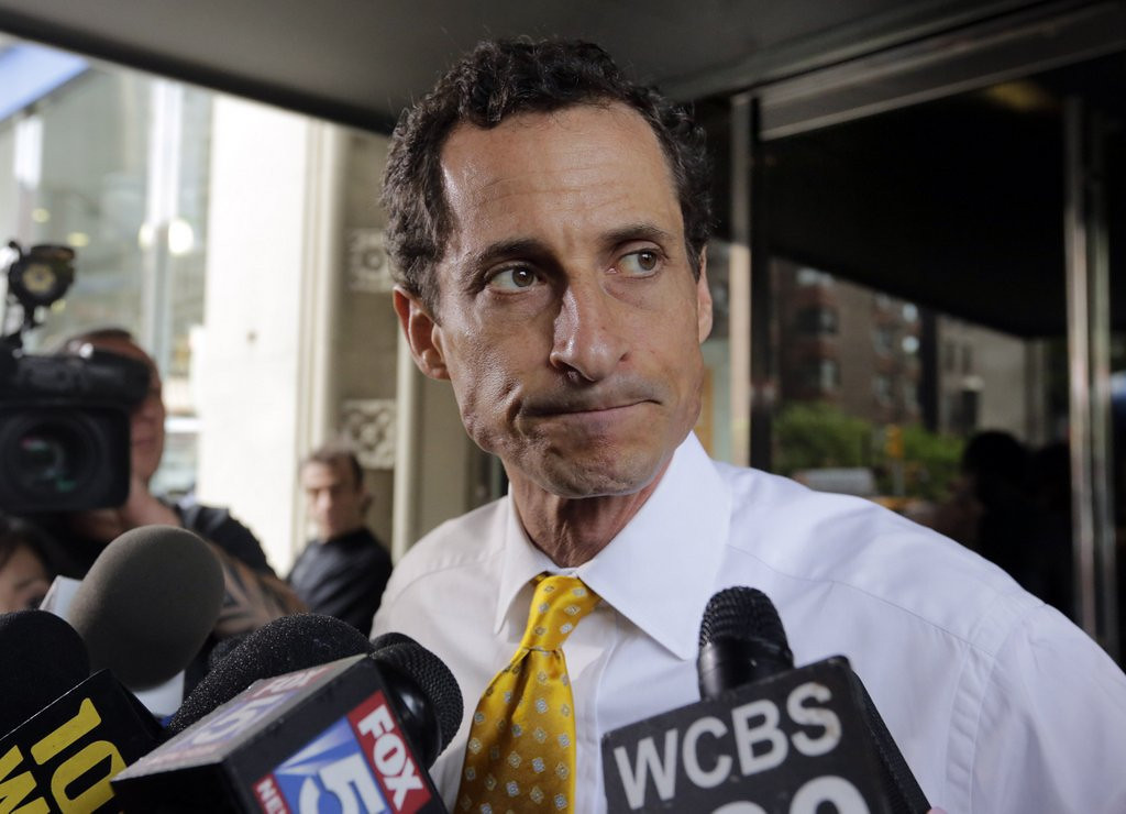 ". <p><b><a href=\'http://politicalticker.blogs.cnn.com/2013/07/25/weiners-poll-numbers-tumble/\' target=""_blank\""> 2. Anthony Weiner </a></b> <p>Sees no need to get off ballot, because he�s getting off everywhere else. (4) <p> --------------------------------------------   (AP Photo/Richard Drew)"
