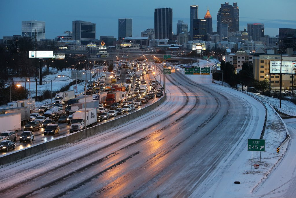 """. <p>2. ATLANTA <p>Looks like three snowplows might not be enough for the state of Georgia. (1) <p><b><a href=\'http://www.twincities.com/national/ci_25020691/snow-ice-send-souths-flagship-city-reeling\' target=\""""_blank\""""> HUH?</a></b> <p>     (AP Photo/Atlanta Journal-Constitution, Ben Gray)"""