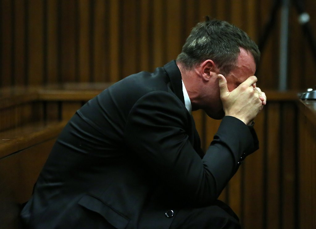 """. <p>5. OSCAR PISTORIUS <p>There�s a 50-50 chance, before the end of his murder trial, that his head will literally explode. (unranked) <p><b><a href=\'http://www.twincities.com/sports/ci_25511901/emotional-oscar-pistorius-testifies-his-murder-trial\' target=\""""_blank\""""> HUH?</a></b> <p>    (AP Photo/Themba Hadebe, Pool)"""