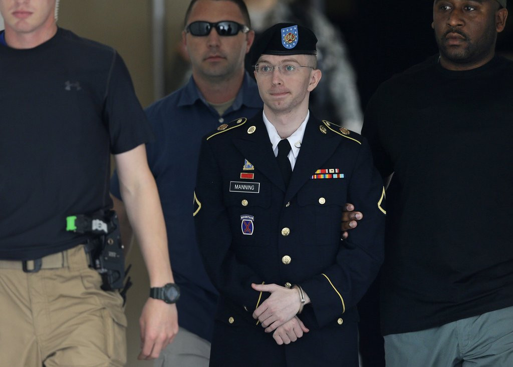 """. <p><b><a href=\'http://www.foxnews.com/us/2013/07/30/bradley-manning-not-guilty-aiding-enemy-in-wikileaks-case-convicted-lesser/\' target=\""""_blank\""""> 3. (tie) Bradley Manning </a></b> <p>Not guilty of aiding the enemy, as there was no evidence he ever spoke directly to Dick Cheney. (unranked) <p> --------------------------------------------   (AP Photo/Patrick Semansky)"""