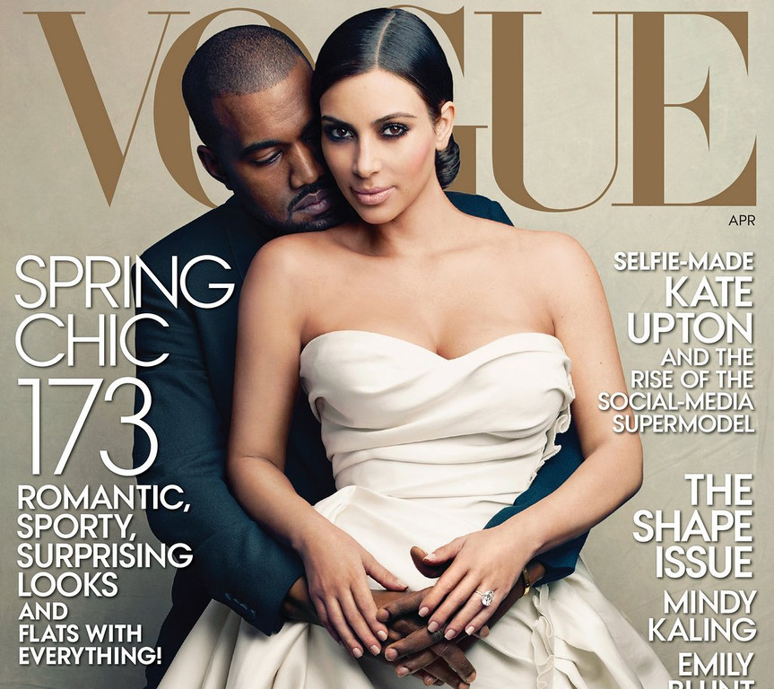 """. <p>6. VOGUE <p>Kim Kardashian�s biggest career highlight since mom set up sex video for her. (1) <p><b><a href=\'http://www.vogue.com/magazine/article/kim-kardashian-and-kanye-west-keeping-up-with-kimye/#1\' target=\""""_blank\""""> HUH?</a></b> <p>    (AP Photo/Vogue, Annie Leibovitz)"""