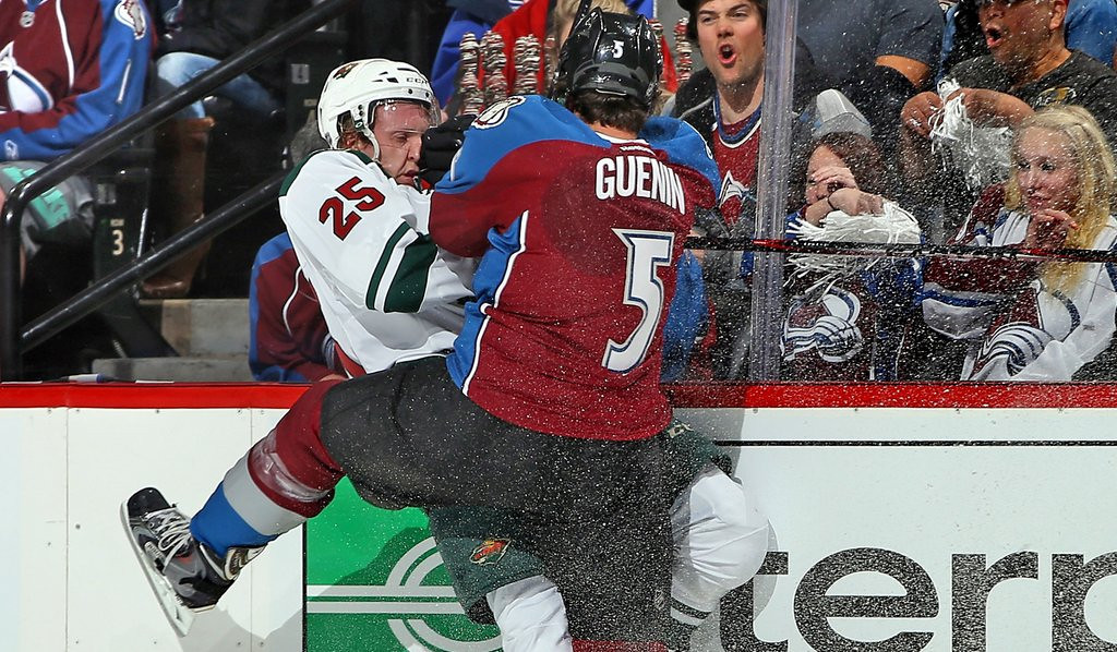 """. <p>1. MINNESOTA WILD <p>On the plus side, may not have to worry about making another trip to Denver. (1) <p><b><a href=\'http://www.twincities.com/sports/ci_25602038/tom-powers-flash-avs-hit-high-gear-and?source=nav\' target=\""""_blank\""""> HUH?</a></b> <p>    (Doug Pensinger/Getty Images)"""