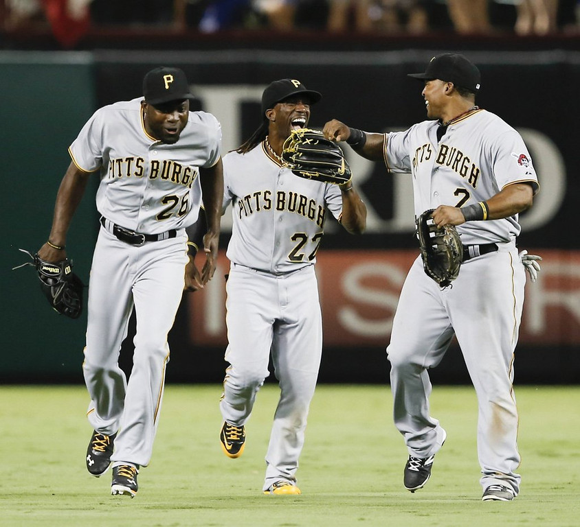 """. <p><b> The Pittsburgh Pirates, after two decades of futility, have done this for the first time since 1992 � </b> <p> A. Clinched a winning record  <p> B. Earned a playoff berth  <p> C. Sold out a home game  <p><b><a href=\'http://www.post-gazette.com/stories/sports/pirates/pirates-secure-first-winning-season-since-1992-with-1-0-win-over-rangers-702649/\' target=\""""_blank\"""">HUH?</a></b> <p>    (Jim Cowsert/Fort Worth Star-Telegram/MCT)"""