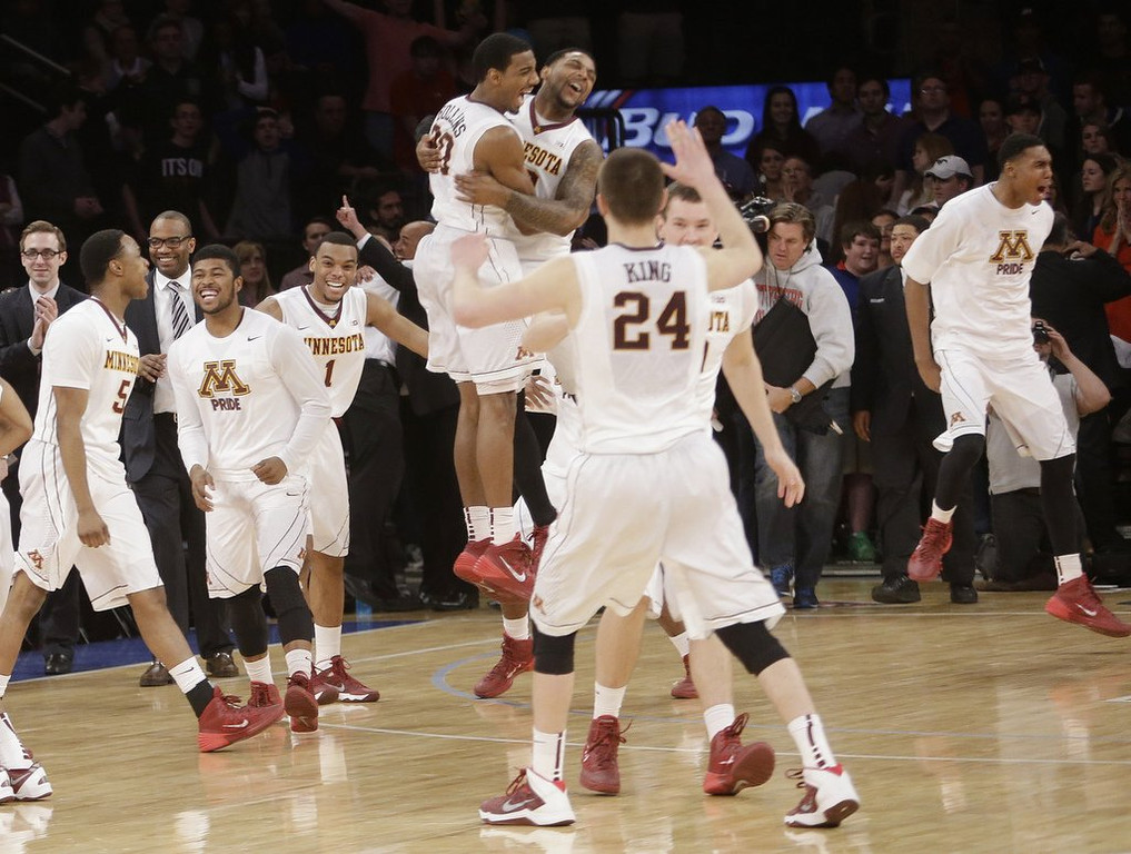 ". <p>1. MINNESOTA GOPHERS <p>Shouldn�t get carried away with NIT title ... too late ... they already have. (2) <p><b><a href=\'http://www.twincities.com/sports/ci_25489216/gophers-65-smu-63-minnesota-wins-nit-championship\' target=""_blank\""> HUH?</a></b> <p>   <p>OTHERS RECEIVING VOTES <p> Willie Nelson�s armadillo, Minnesota Twins, Fort Hood, Metta World Peace, Chris Johnson, �Cuban Twitter�, Rachel Frederickson, �Slap-Ass Friday�, San Antonio Spurs, Nigella Lawson, sharks, Gator Bowl, Paul Ryan, earthquakes, DeSean Jackson, Rosey Grier, Jadeveon Clowney, Tiger Woods, Donald Trump, Don Baylor, Michael Strahan, Target Field menu, General Motors, Obamacare, �How I Met Your Mother�, Ryan Braun, Justin Bieber. <p> <br><p><i> You can follow Kevin Cusick at <a href=\'http://twitter.com/theloopnow\'>twitter.com/theloopnow</a>.</i>     (AP Photo/Frank Franklin II)"