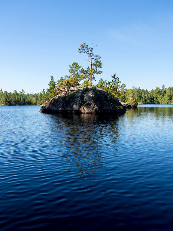 . Trees cover an island in South Hegman Lake on Sept. 24, 2013. (Pioneer Press: Andy Rathbun)