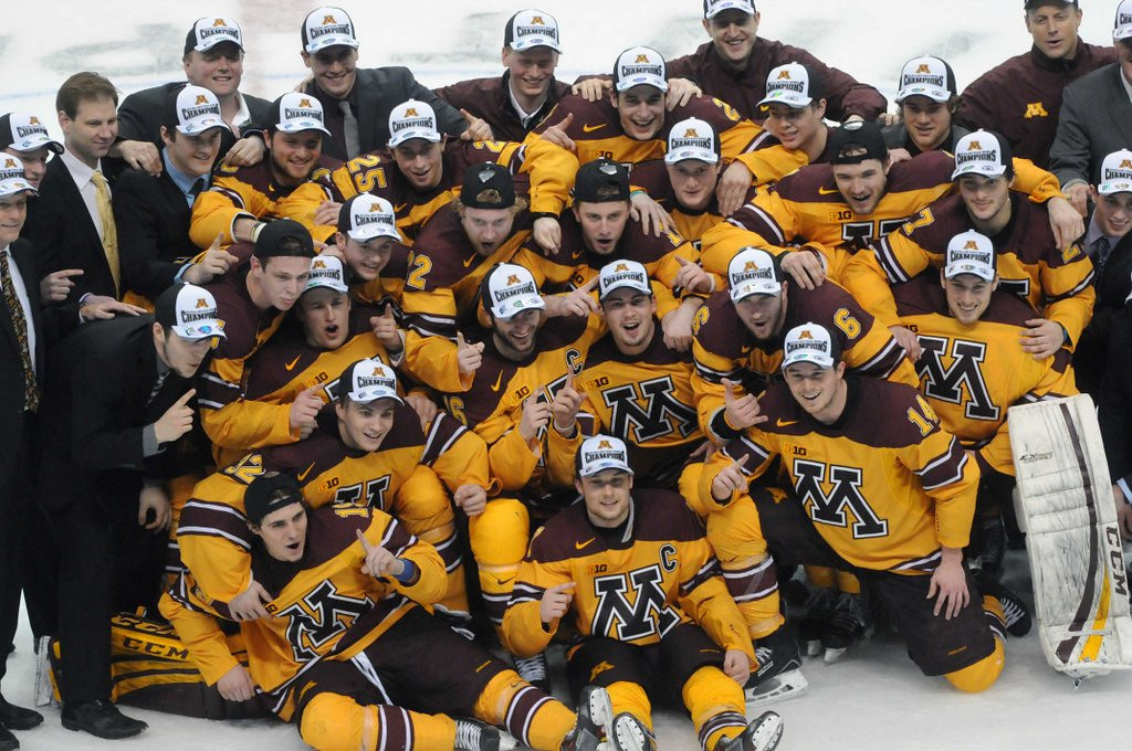 """. <p>7. (tie) FROZEN FOUR <p>Congrats on making the big dance, Gophers! Now sit around and wait a couple of weeks. (unranked) <p><b><a href=\'http://www.twincities.com/sports/ci_25454731/ncaa-hockey-gophers-roll-into-frozen-four-shutout\' target=\""""_blank\""""> HUH?</a></b> <p>    (Pioneer Press: Scott Takushi)"""