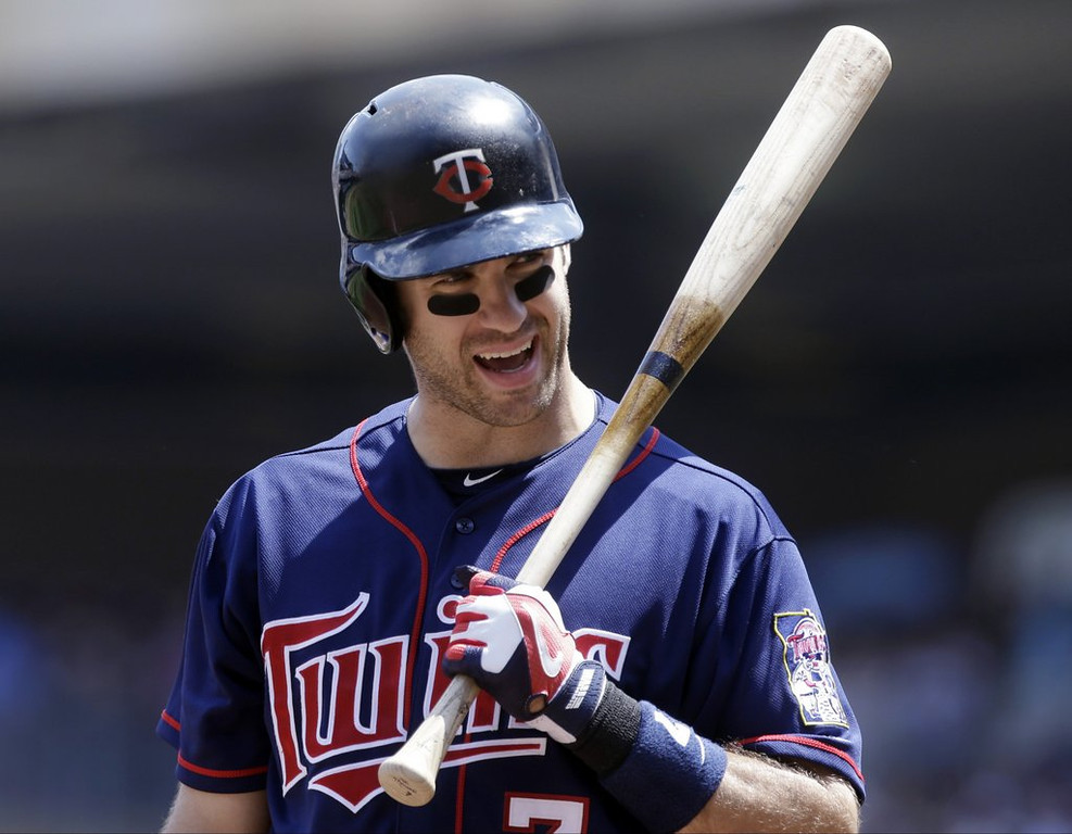 ". <p><b><a href=\'http://www.twincities.com/twins/ci_23721515/hear-ye-hear-ye-announcing-mauer-twins-st\' target=""_blank\""> 8. Joe Mauer </a></b> <p>Apparently too busy to offer appropriate thanks to Pioneer Press Town Crier for his yeoman�s work on behalf of the twin princesses. (1) <p> --------------------------------------------   (AP Photo/Jim Mone)"