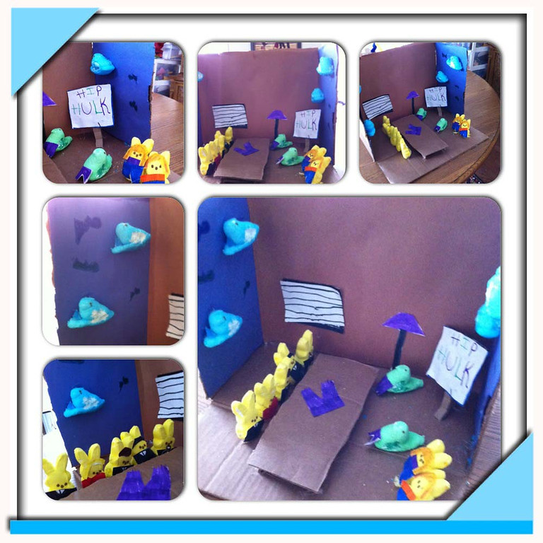 ". ""Peep Tank,\"" by Savannah and Amelia Berntson"