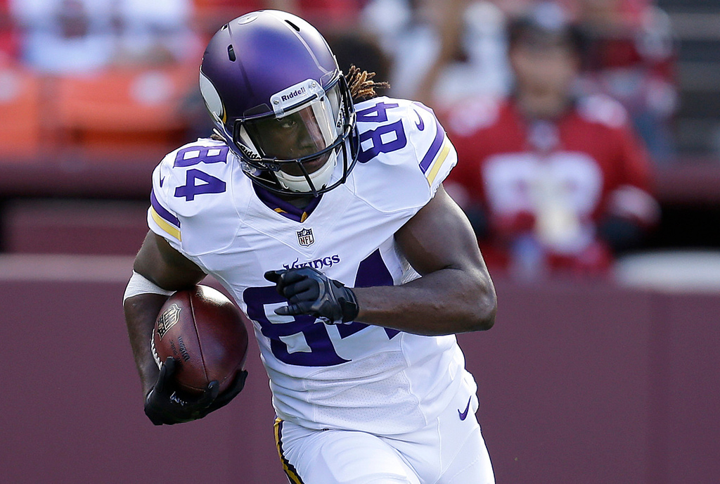 . Vikings wide receiver Cordarrelle Patterson  runs against the 49ers during the first quarter. (AP Photo/Ben Margot)