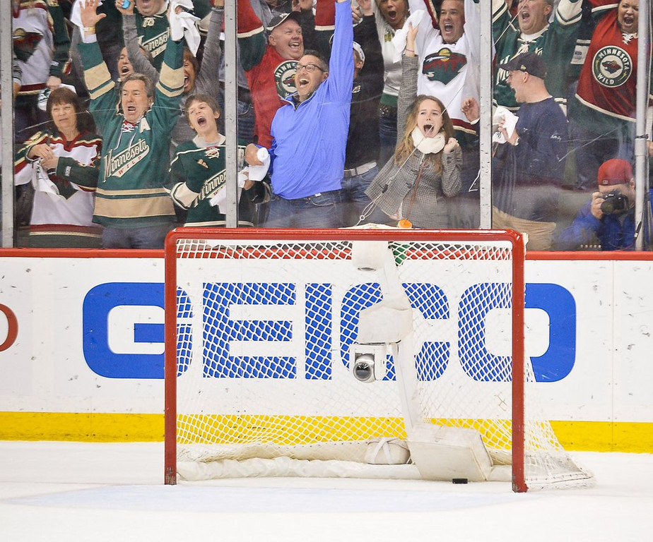 ". <p><b> Fans attending Monday night�s NHL playoff game at Xcel Energy Center were thrilled to death as they watched their Wild � </b> <p> A. Tie the series at 3-3 <p> B. Outplay Colorado for the fifth time in six games <p> C. Remember how to shoot a puck into an empty net <p><b><a href=\'http://www.twincities.com/sports/ci_25656731/wild-5-avalanche-2-parise-goal-helps-minnesota\' target=""_blank\""> LINK </a></b> <p>   (Pioneer Press: Ben Garvin)"