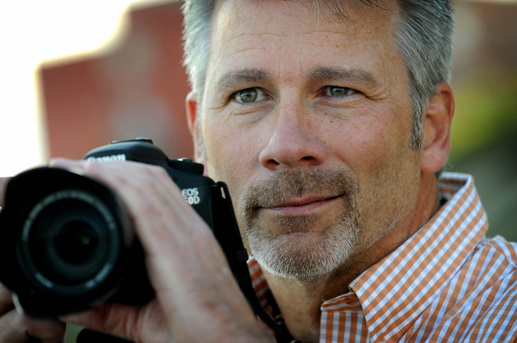 . Dave Youngren grew up three blocks from the old bridge and has been photographing the old and new bridge at least five days a week for the past three years. (Pioneer Press: Jean Pieri)