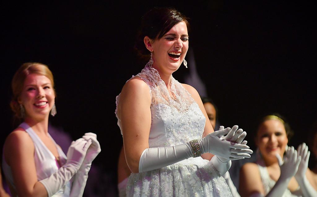 . Christine Schrader of Lakeville reacts after being named the 2014 East Wind Princess. (Pioneer Press: Ben Garvin)