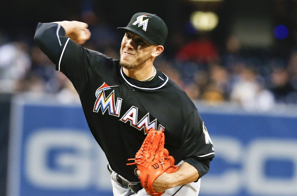 ". <p><b> Miami phenom Jose Fernandez received the worst possible news on Tuesday, when he learned that he would be � </b> <p> A. Facing Tommy John surgery <p> B. Missing the rest of the season <p> C. Sent back to Cuba by Janet Reno <p><b><a href=\'http://sports.yahoo.com/blogs/mlb-big-league-stew/jose-fernandez-to-dl-with-right-elbow-sprain-230822719.html\' target=""_blank\"">LINK</a></b> <p>   (AP Photo/Lenny Ignelzi)"