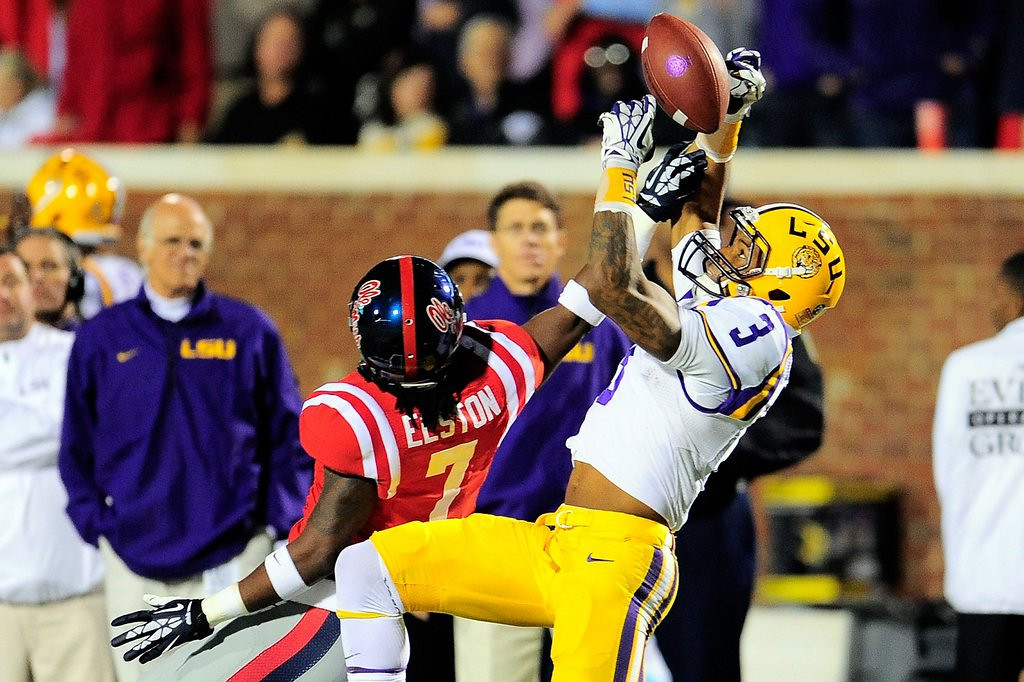 . <p><b>15. Pittsburgh: Odell Beckham Jr., WR, LSU. </b> <p>The Steelers watched a fast guy sprint out of town after the 2012 season in Mike Wallace. Hello to one who ran a 4.4 40-yard dash at the combine.   (Photo by Stacy Revere/Getty Images)