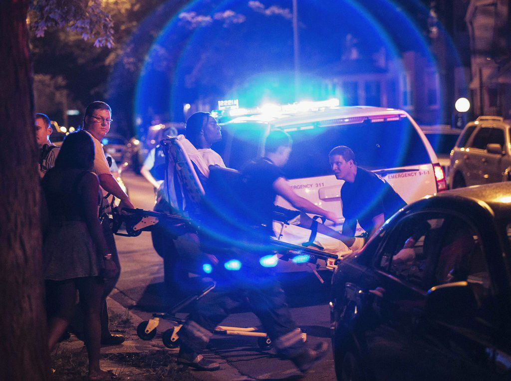 """. <p><b> Chicago officials expressed concern after tallies showed 82 people in the Windy City were shot, 14 of them fatally � </b> <p> A. Over the July 4th weekend <p> B. In June <p> C. Tuesday morning <p><b><a href=\'http://www.chicagotribune.com/news/local/breaking/chi-fourth-of-july-toll-82-shot-14-of-them-fatally-in-chicago-20140707,0,5439185.story\' target=\""""_blank\"""">LINK</a></b> <p>   (AP Photo/Sun-Times Media, Alex Wroblewski, File)"""