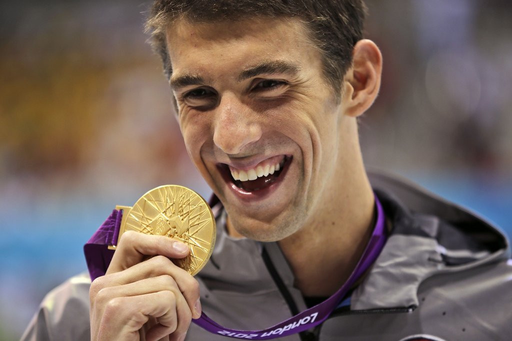 """. <p>1. MICHAEL PHELPS <p>Jumping back into pool, despite fears that Ryan Lochte may have just peed in it. (unranked) <p><b><a href=\'http://www.twincities.com/sports/ci_25564018/michael-phelps-olympic-swimming-great-coming-out-retirement\' target=\""""_blank\""""> HUH?</a></b> <p>    (AP Photo/Matt Slocum)"""