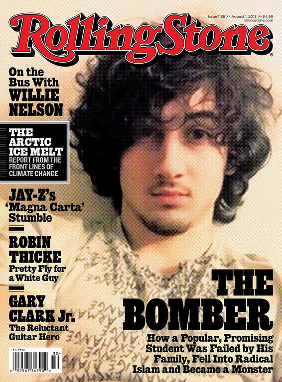 ". <p><b><a href=\'http://www.boston.com/metrodesk/2013/07/17/dzokhar-tsarnaev-boston-terror-bomb-suspect-featured-cover-rolling-stone-elected-officials-criticize-decision/Y1f4VG4CpipYeXoshKdgKM/story.html\' target=""_blank\""> 6. (tie) Rolling Stone  </a></b> <p>Critics decry Boston terrorist glam cover, but all eight of magazine�s subscribers enjoyed it. (unranked) <p> --------------------------------------------   (AP Photo/Wenner Media)"