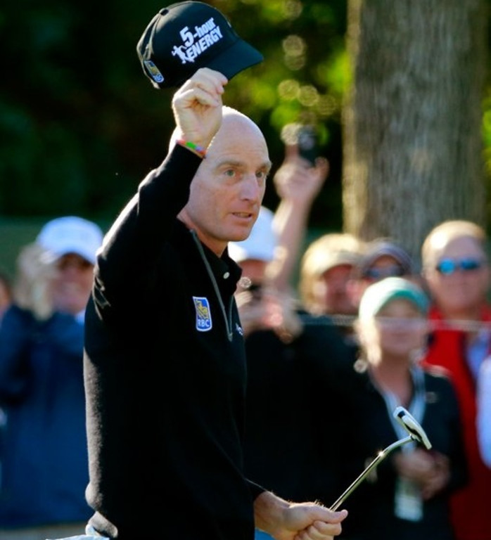 """. <p><b> Former U.S. Open champion Jim Furyk enjoyed what may have been his greatest day ever last Friday when he � </b> <p> A. Shot a PGA Tour record-tying 59  <p> B. Made a double eagle  <p> C. Was accepted into the Hair Club for Men  <p><b><a href=\'http://www.usatoday.com/story/sports/golf/2013/09/14/jim-furyk-59-at-bmw-championship/2813543/\' target=\""""_blank\"""">HUH?</a></b> <p>    (Sam Greenwood/Getty Images)"""