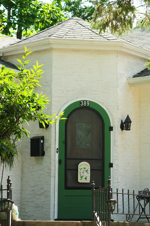 """. This hexagonal doorway of the \""""Forsythe House, owned by Carol  Mladek, will be part of a tour of the historic \""""Pill Hill\"""" section of South St. Paul."""