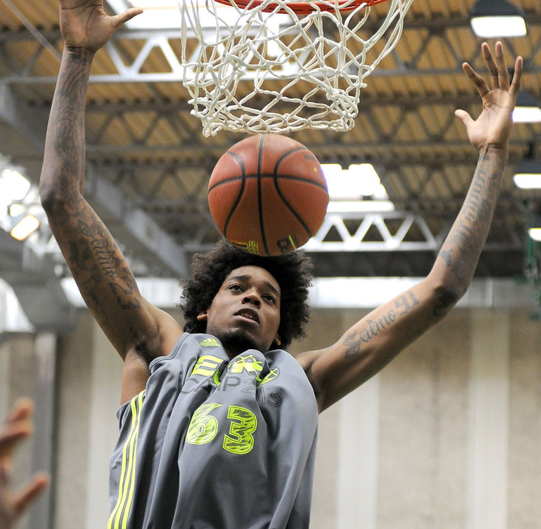 . 17.)  Atlanta Hawks -- Lucas Nogueira, center, Brazil -- The 7-foot Nogueira can block shots and run the floor well enough to be a starting center, but his body (220 pounds) is far from NBA-ready. He�s definitely worth the risk at this point.   (Photo by Roberto Serra/Iguana Press/Getty Images)