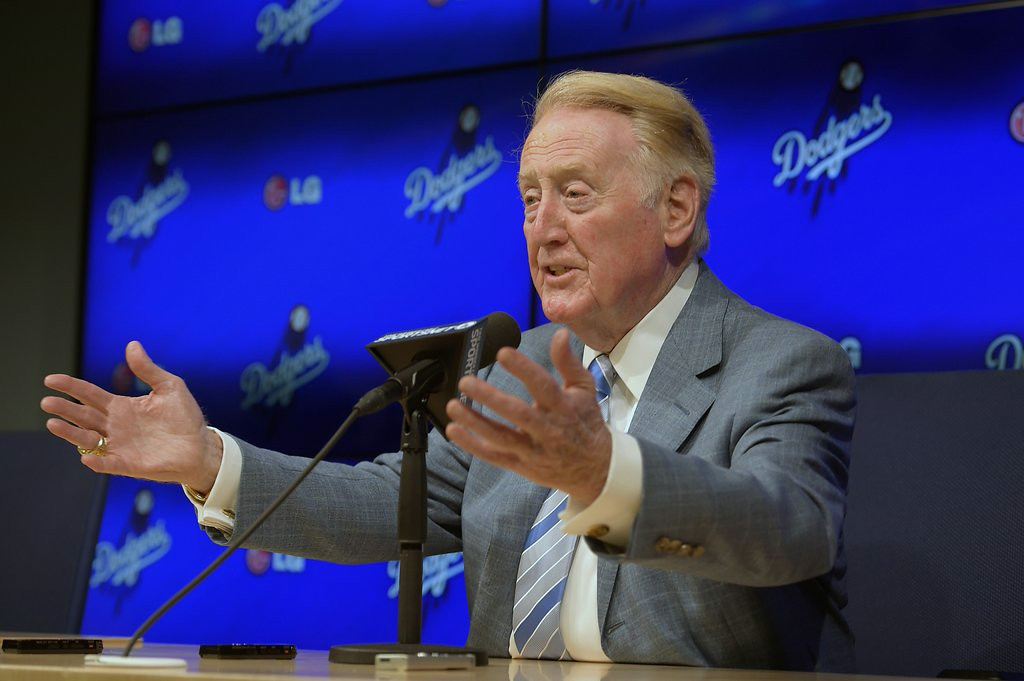 ". 8. VIN SCULLY <p>To put his 65-year Dodgers career in perspective, he only missed the Cubs� last World Series title by 42 years. (unranked) </p><p><b><a href=""http://www.latimes.com/sports/dodgers/la-sp-dodgers-20140730-story.html\"" target=\""_blank\""> LINK </a></b> </p><p>   (AP Photo/Mark J. Terrill)</p>"