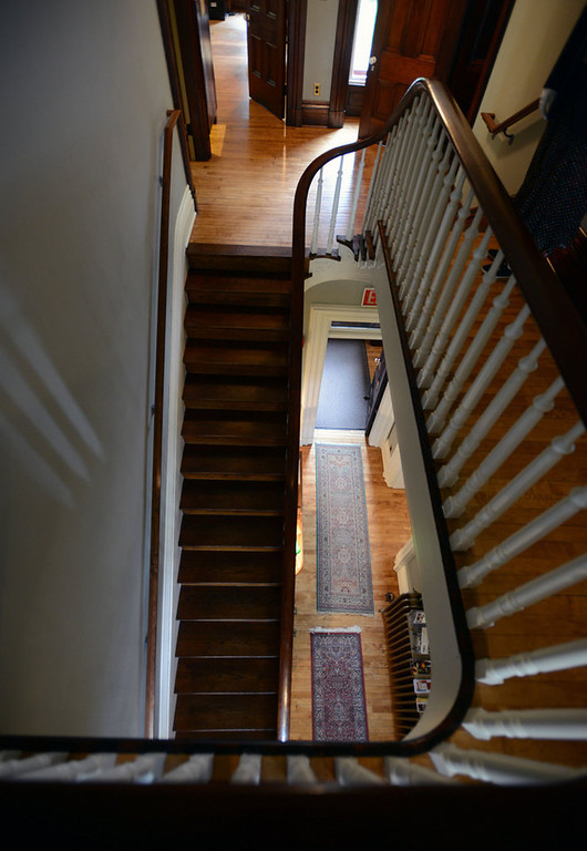. Stairs at the LeDuc Historic Estate in Hastings, Minnesota, June 8, 2013.   (Pioneer Press: Chris Polydoroff)