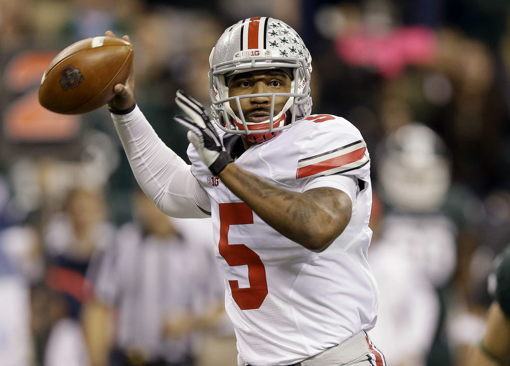 ". 10. (tie) OHIO STATE BUCKEYES <p>Braxton Miller�s injury means they�ll be losing a lesser bowl this season. (unranked) </p><p><b><a href=""http://btn.com/2014/08/19/what-braxton-miller-injury-means-to-ohio-state-b1g/\"" target=\""_blank\""> LINK </a></b> </p><p>    (AP Photo/Michael Conroy)</p>"