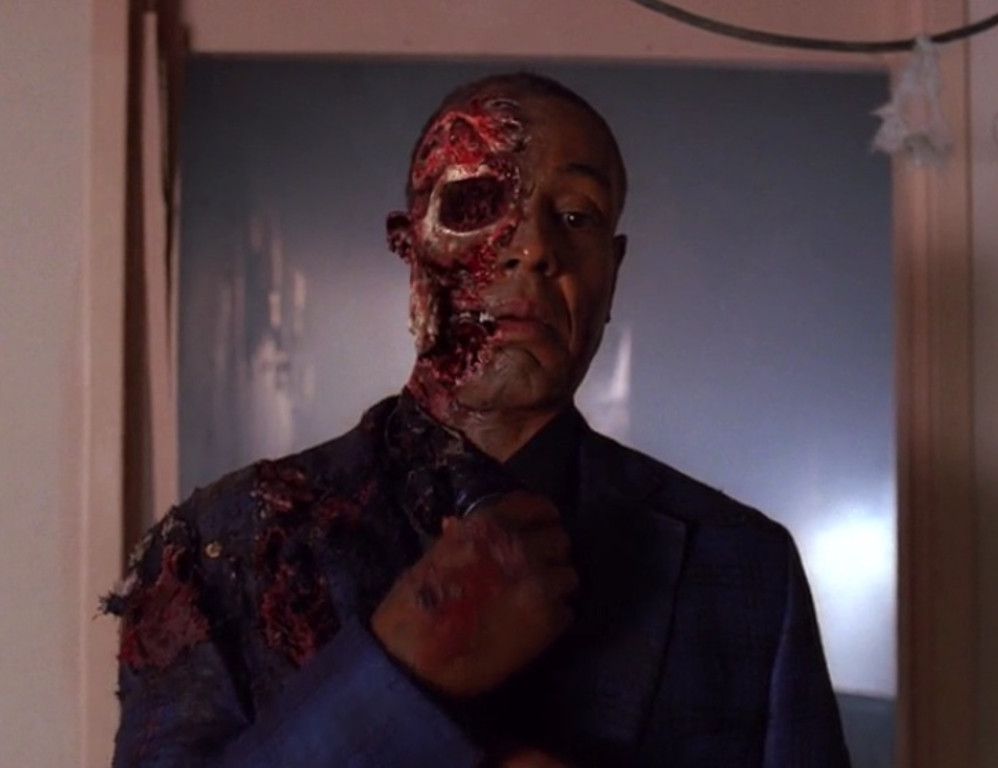 . <p>7. GUS FRING <p>Some would look at his face as half empty, others half full.
