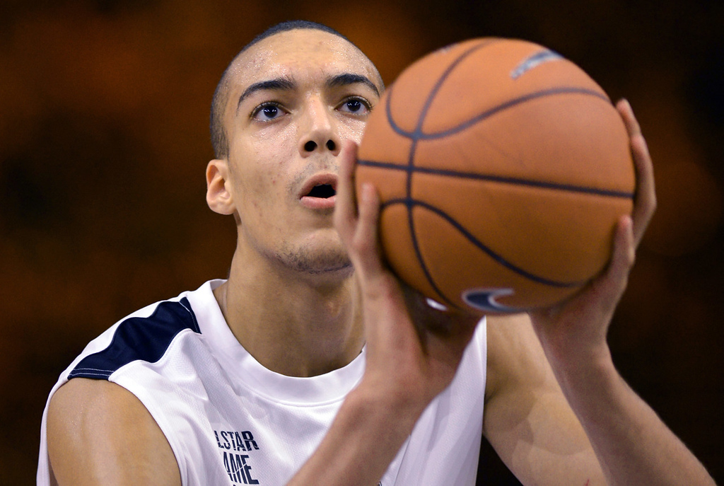 . 26.) Minnesota Timberwolves  -- Rudy Gobert, center, France -- The Wolves needed outside shooting and help inside behind Kevin Love and Nikola Pekovic. The 7-2 Gobert isn�t ready to play major minutes, but the Wolves can take their time with him. His 7-8 wingspan helps him make an impact defensively.  (MIGUEL MEDINA/AFP/Getty Images)