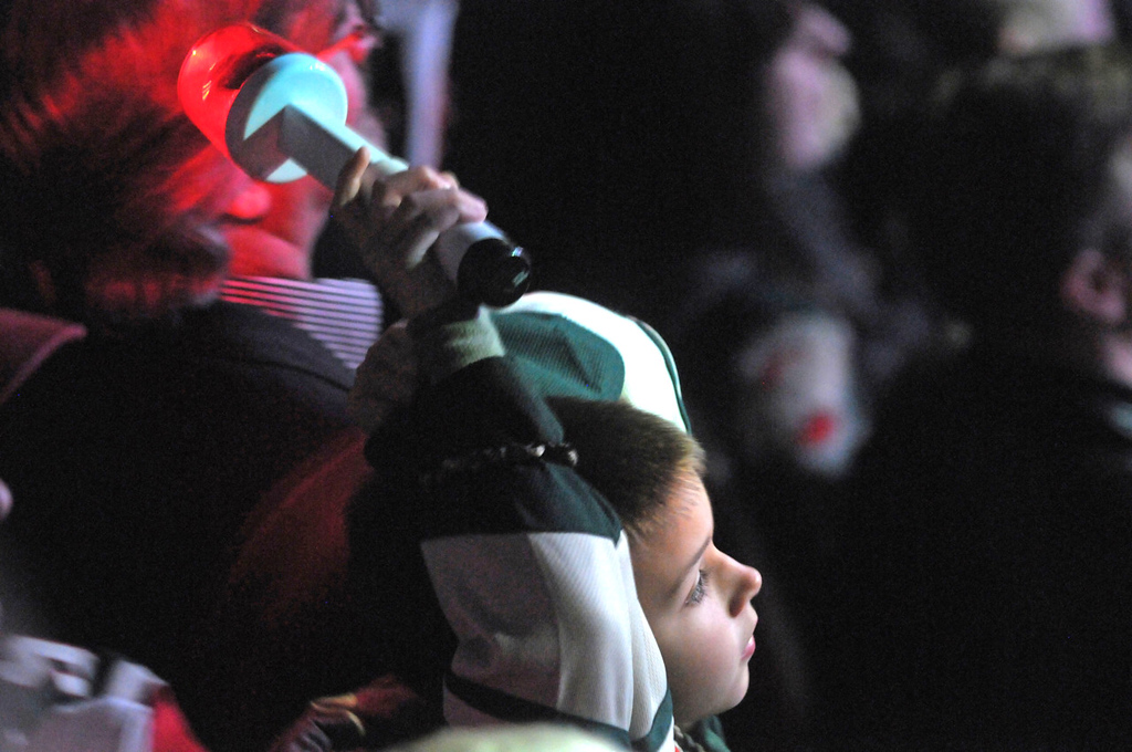 . A Minnesota Wild fan watches during the opening ceremonies of Game 6.   (Pioneer Press: Sherri LaRose-Chiglo)