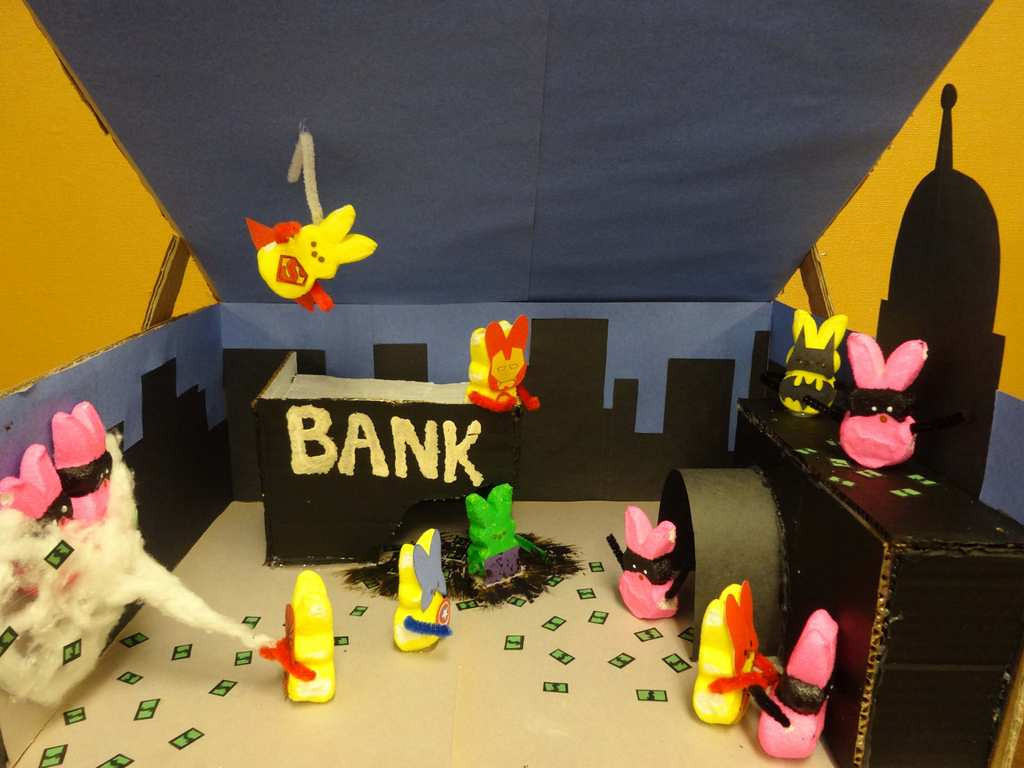 ". ""Super Peeps,\"" by Khaing Thin Yee, a 10th-grader at Humboldt High School in St. Paul"