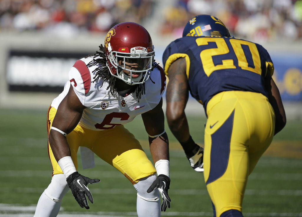 """. 8. (tie) JOSH SHAW <p>Looks like USC is still recruiting pathological liars. (unranked) </p><p><b><a target=\""""_blank\""""> LINK </a></b> </p><p>    (AP Photo/Eric Risberg)</p>"""